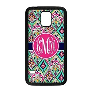 Hot Pretty Floral Jewels Monogrammed Luxury Cover Case For Samsung GALAXY S5(Black) yiuning's case