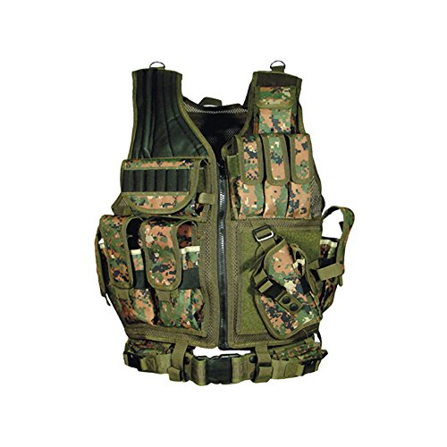 UTG Airsoft Deluxe Tactical Vest Digital (Woodland Digital Camo) (Digital Tactical Camo)