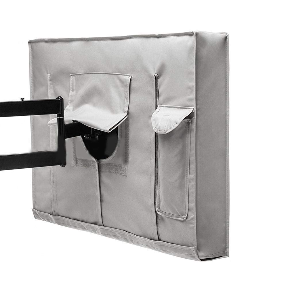 iBaste TV Abdeckung schutzh/ülle Fernseher Abdeckung Outdoor TV Displayschutzfolie Wasserdicht Wetterfest Cover f/ür Universal Fernseher