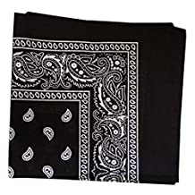 Bandana - Classic Paisley Headscarf - (Single Piece) - Bandanas