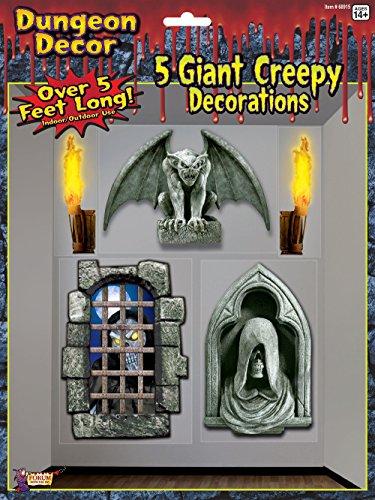 Forum Novelties Dungeon Decor Indoor/Outdoor Creepy Wall Decoration, 5', (Halloween Decorations Uk Sale)