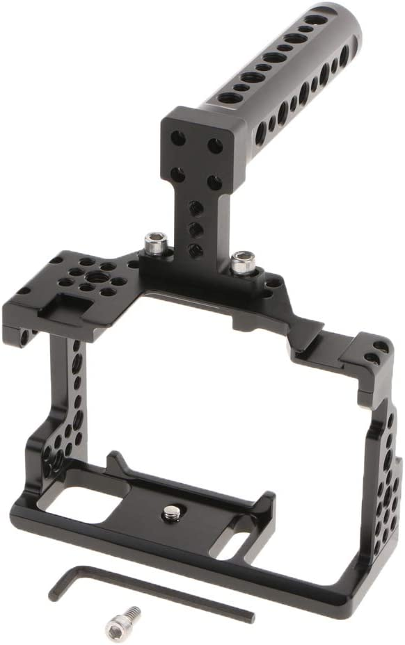Handle gazechimp Aluminum DSLR Cage Kit Video Stabilizer for Sony Alpha A7 III Camera