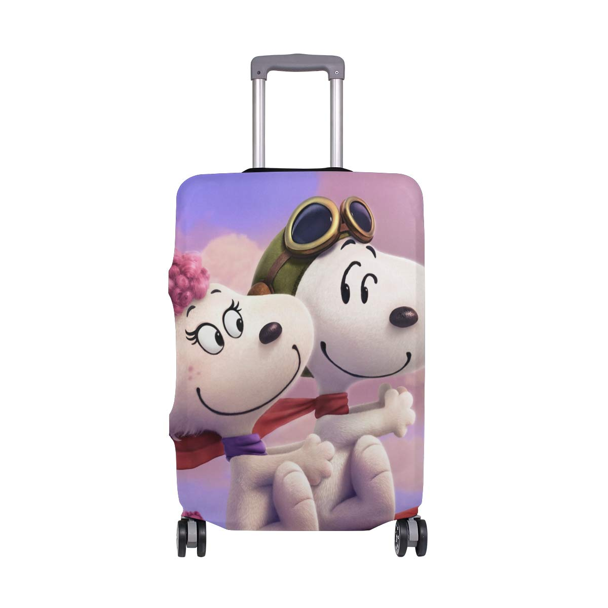 Snoopy And Fifi In The Paris suitcase cover elastic suitcase cover zipper luggage case removable cleaning suitable for 29-32 trunk cover