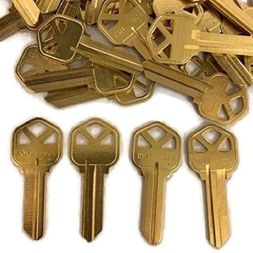 MSPowerstrange 250 Piece Key Blanks KW1-BR for Locksmith / KW1-BR-250BK / Solid Brass/Made by Ilco