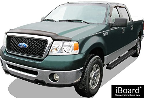 Black Powder Coated 4 inches APS iBoard Exclude 04 Heritage Edition Running Boards Nerf Bars Side Steps Step Rails Compatible with 2004-2008 Ford F150 SuperCrew Cab Pickup 4-Door