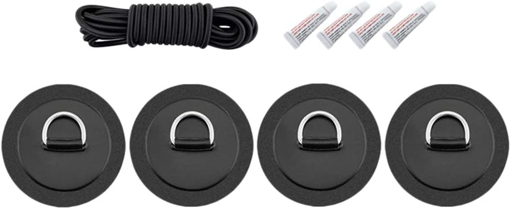 NO Glue D Ring Patch for PVC Inflatable Boat SUP Kayak W Stainless Steel D Ring