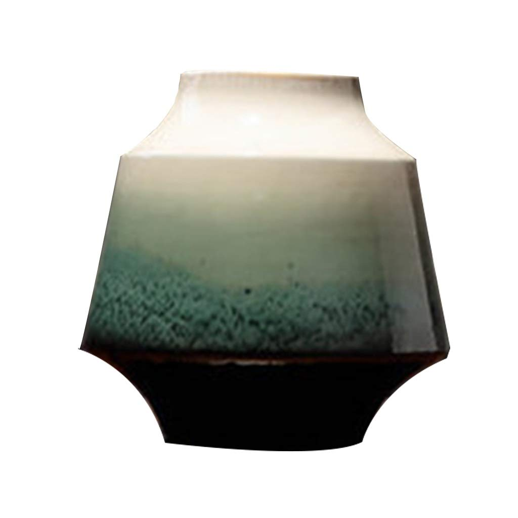 ドライフラワーアレンジメントのファミリーオフィスやリビングルームに最適なセラミック花瓶、高温ヨーロッパスタイル B07S6N4HCM