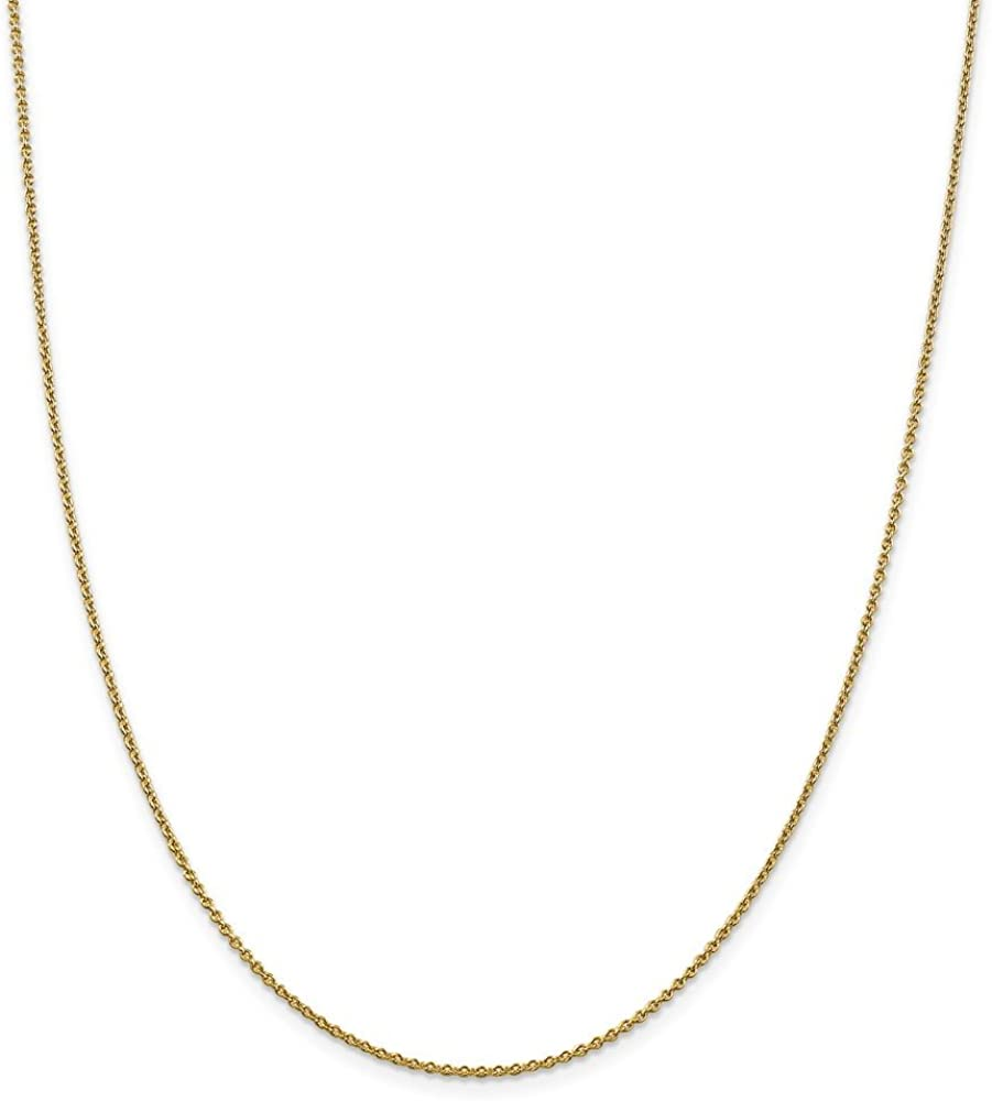 14k 1.4mm Solid Polished Cable Chain Length 10 Width 1.4