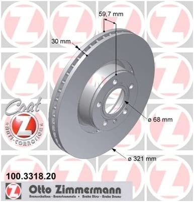 ZIMMERMANN 100.3318.20/Coat Z vorne Bremse