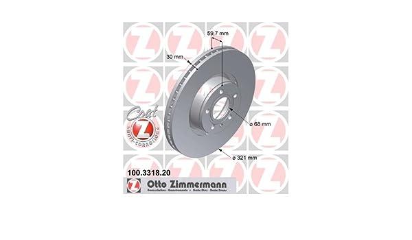 Zimmermann 100 3318 20 Disc Brake Rotor