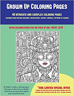 Amazon.com: Grown Up Coloring Pages (40 Complex and ...