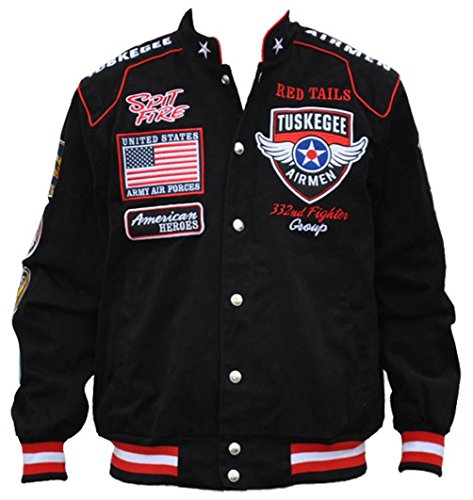 Big Boy Headgear Tuskegee Airmen Mens Twill Jacket 3XL Black (Twill Black Jacket Kids)