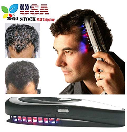 Hair Brush Hair Growth, STCORPS7 Anti Loss Treatment Electric Hair Comb Massage Brush for Daily Home Use