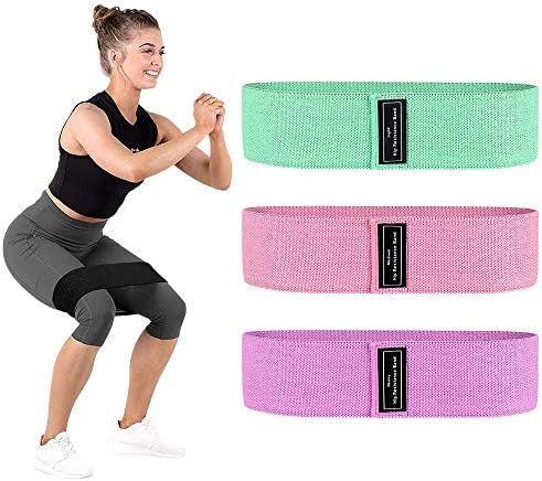 Sindax Booty Bands Resistance Bands for Legs and Butt Exercise Bands with Portable Bag 3 Levels Workout Bands Women Sports Fitness Band Strength Training Glute, Squat, Lunges, Butt Exercise