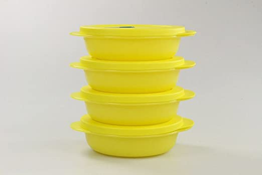 Tupperware Microondas crystalwave 400 ml (4) Amarillo Micro ...