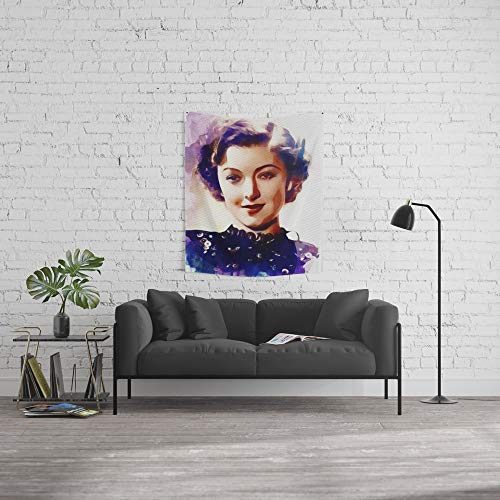 Society6 Wall Tapestry, Size Small: 51'' x 60'', Myrna Loy, Movie Star by esotericaartagency by Society6