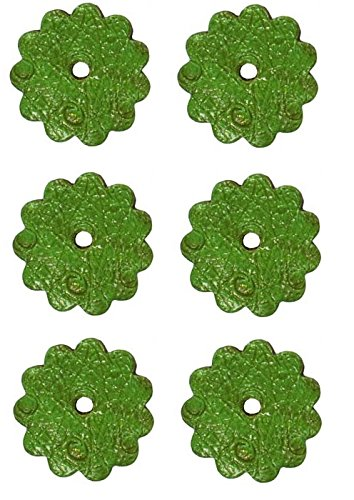 Tahoe Tack Ostrich Print 1.5 inch Leather Rosettes Lot of 6 - Lime ()