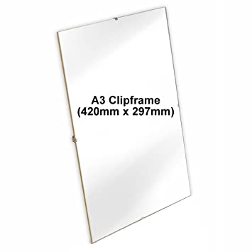 A3 Clip Frame Picture Photo Frames A3 Frameless Poster Acrylic 420mm ...