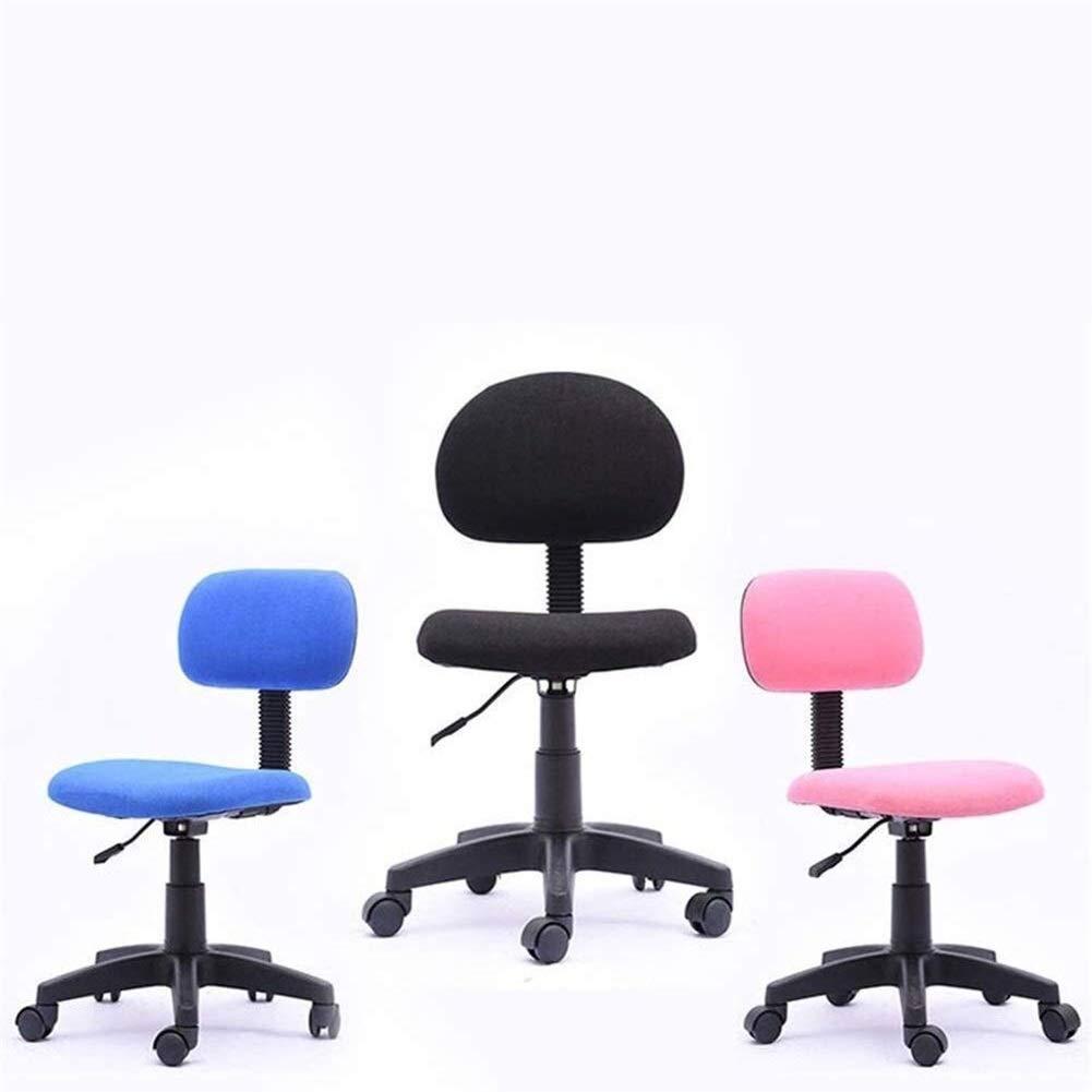 HLR kontorsstol skrivbordsstol kontorsstol stoppad armlös uppgiftsstol – ergonomisk dator/kontorsstol (färg: Blå) BLÅ