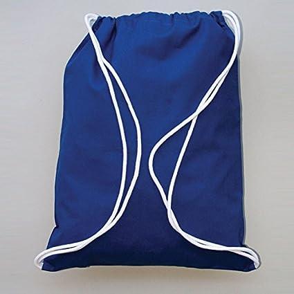 acd68dac623d Amazon.com: 100% Cotton Basic Promo Drawstring Bag by SHOPINUSA (50 ...