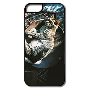 PTCY IPhone 5/5s Make Your Own Geek Relaxed Cat