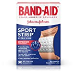 Band-Aid Brand Adhesive Bandages, Sport Strip, Extra Wide, 30 Count (Pack of 2)