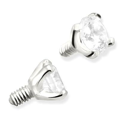 Amazoncom 14K Gold Dermal Top 14K White Gold Jewelry