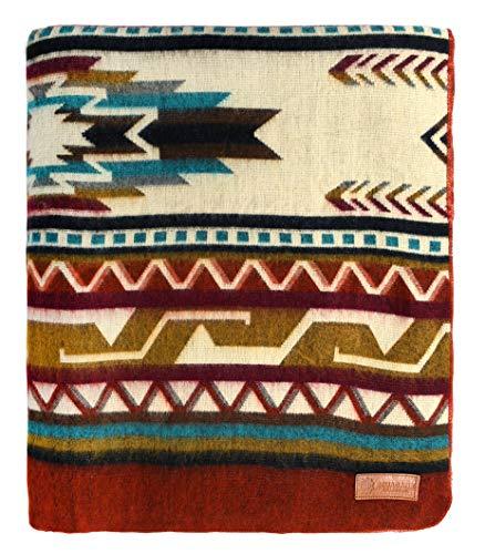"(Ecuadane Large Southwestern Artisan Blanket, Handmade in Ecuador, Size 82"" x 93"" - Color Antisana Arrow)"