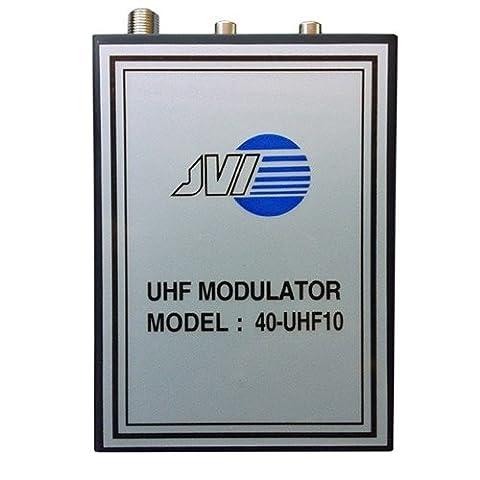 UHF-10 UHF Modulator RF Audio Video Variable Single Channel Output 14 - 32 Modulates Audio and Video Distribution Modulator Single Input JVI 40-UHF10 Audio Video - Rf Modulators Single Channel