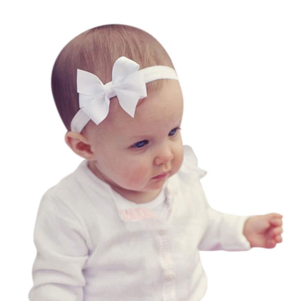 Lomire/® 3Pcs Bandeaux cheveux b/éb/és serre-t/ête /élastique dun style des n/œuds papillon pour petites filles accessoires mignons pour enfants b/éb/és filles Bandeaux en coton pour b/éb/é filles