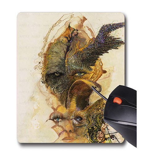 519MdnwFyiL - AOFFLY Denton Lund - Wings and Things - Non-Slip Rubber Mousepad Gaming Mouse Pad