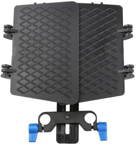 Fotga ABS Plastic Basis Matte Box with 15mm Rail Rod Clamp Sunshade for Beginners Rail Rod Rig System Camera Cage Canon 5D 6D 7D Mark II III IV Fuijifilm X-A3 X-T10 X-pro 2 Panasonic GH3 GH4 GH5 etc