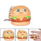 Hongxin--Kawaii Cartoon Hamburger Slow Rising Cream Scented Keychain Stress Relief-You Need to Relax (B)