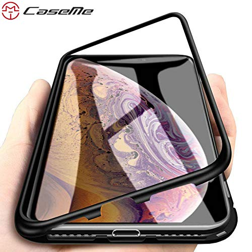 9dfaa90c724 Image Unavailable. Image not available for. Color: CaseMe 360 Magnetic  Adsorption Case for iPhone XR XS MAX X 8 7 Plus + Tempered