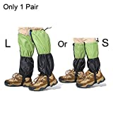 WEANAS 1 Pair Unisex Adult and Child Outdoor Mountain Snow Legging Gaiters, Windproof Waterproof Warmth Shoes Cover, for Hiking, Skiing, Walking, Climbing, Hunting