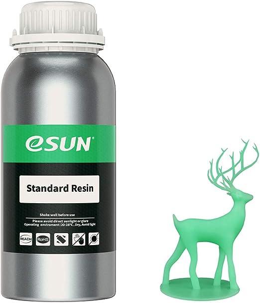 eSUN光造形3Dプリンター用LCDUVレジン500ml光硬化可能汎用樹脂photon等の3Dプリンタ向け(ライトグリーン)