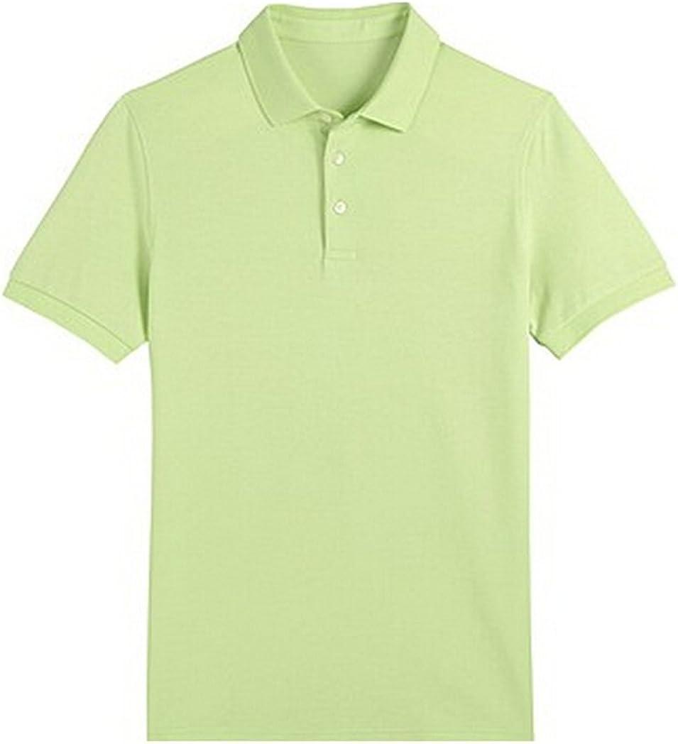 TONGHAI Mens Pure Navy Cotton Polo Shirt