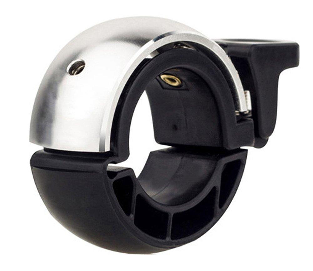 Bicycle Bell Aluminium Alloy Bike Handlebar Bell Bike Ring Loud Crisp Clear Sound Horn Bike Accessories Invisibles Q Design Cycling Bell 90DB Fit for Handlebar Diameter:22.2-24mm?Black GUDEER
