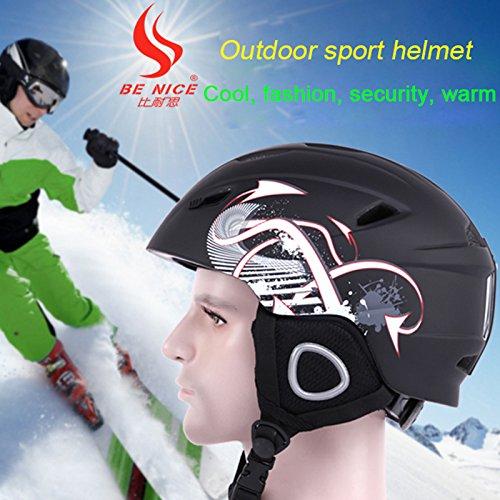 Benice nueva llegada conjuntos de esquí casco de esquí y calor calcetines profesional equipo de esquí para adultos, Back: Amazon.es: Deportes y aire libre