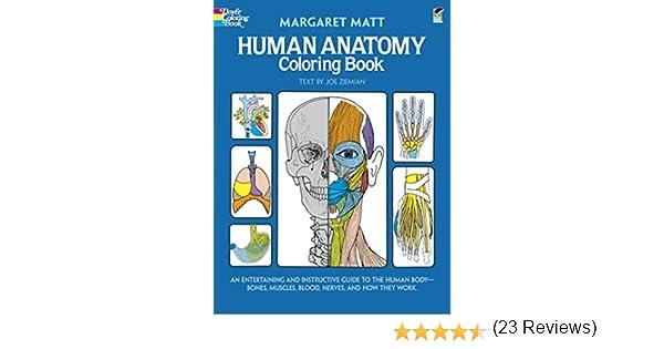 Human Anatomy Coloring Book: Margaret Matt, Joe Ziemian ...