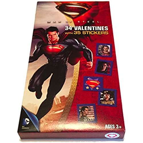 Valentine's Day Cards - Set of 34 with Extras (Superman) Sales