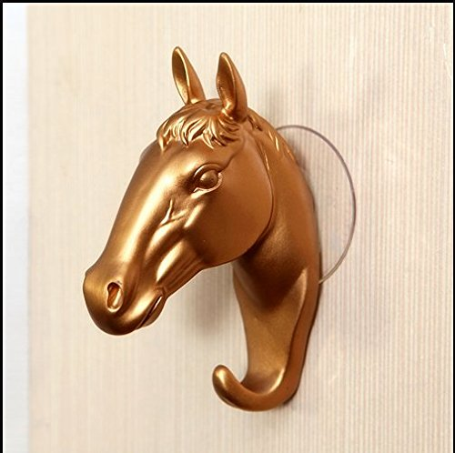 VPlus 1 Pcs American Retro Horse Head Decoration Wall Coat Rack Creative Clothing Store Entrance Entrance Wall Decoration Wall Key Hook Home Living Room Wall Decorative Hooks Kitchen Storage Rack