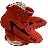 RJS Racing Equipment PAIR OF RJS RED HIGH-TOP DRIVING SHO...