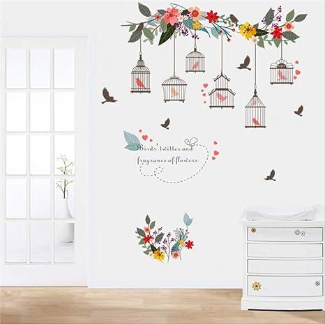 hzcl Rama De La Flor De Pájaros Voladores Pájaro Jaula Decorativa ...