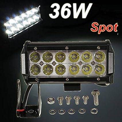 Poseidon 36w 12 LED punto de bombilla trabajo viga para SUV campo ...