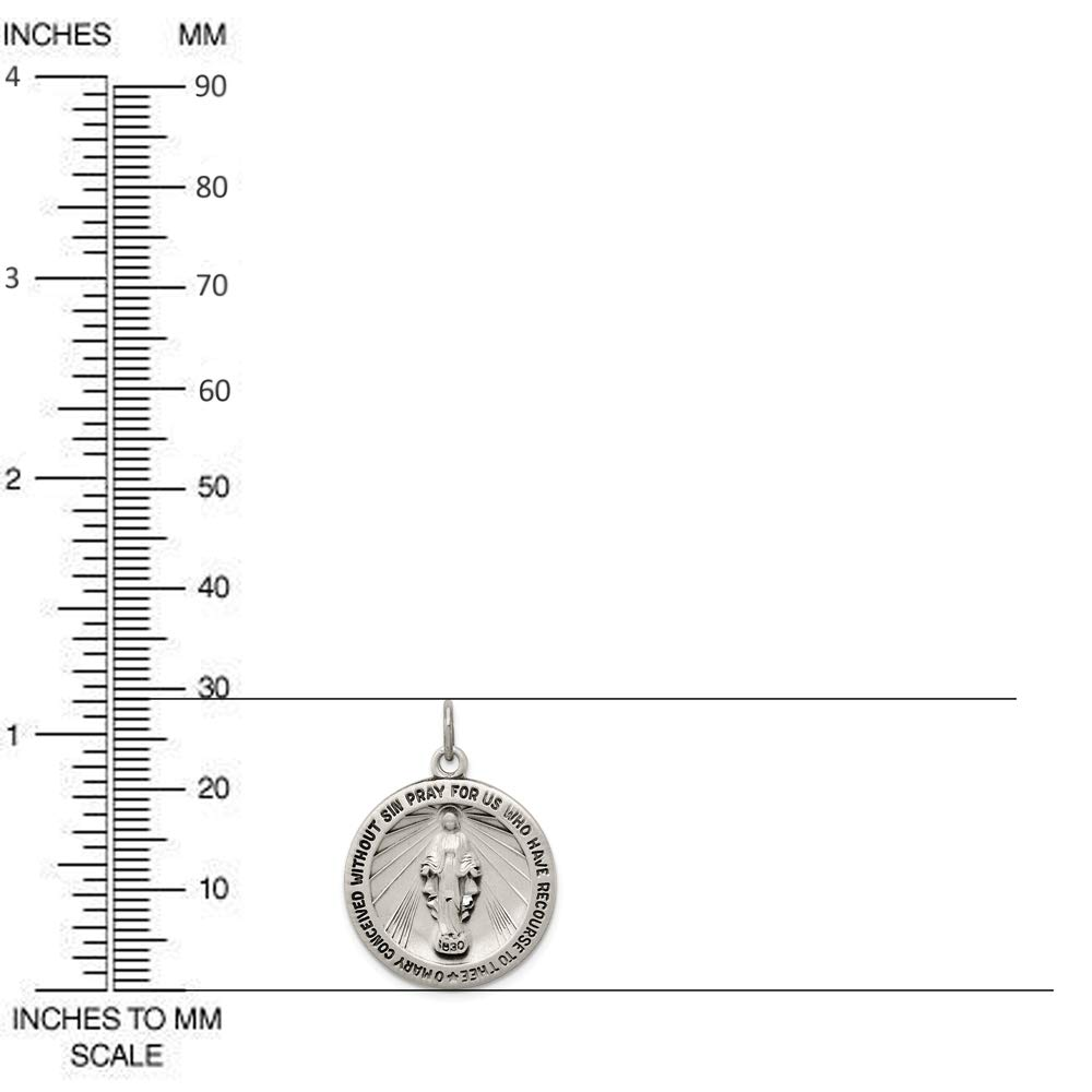 Diamond2Deal 925 Sterling Silver Antiqued Miraculous Medal Pendant