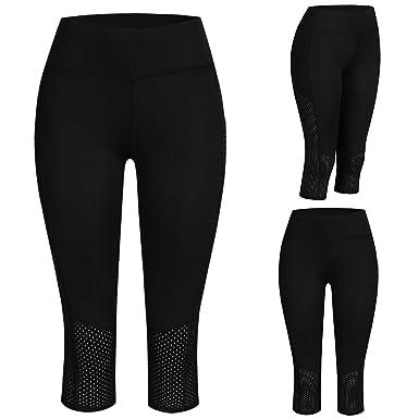 Mujer Leggings 3/4 Pantalones, Damas Fitness Yoga Running ...