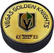 Medallion Puck - Vegas Golden Knights Gold Established