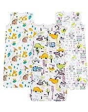 Kamsy's Organic Cotton Baby Sleep Sack (0.5 Tog)- Double Zipper Adjustable Length Sleep Sack – 2 Pack