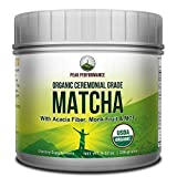 Organic Ceremonial Grade MATCHA Green Tea Powder By Peak Performance. BEST TASTING Keto & Paleo Friendly Matcha With MCT + Monk Fruit. Rich in Antioxidants and Great For Natural Energy. (30 Servings)